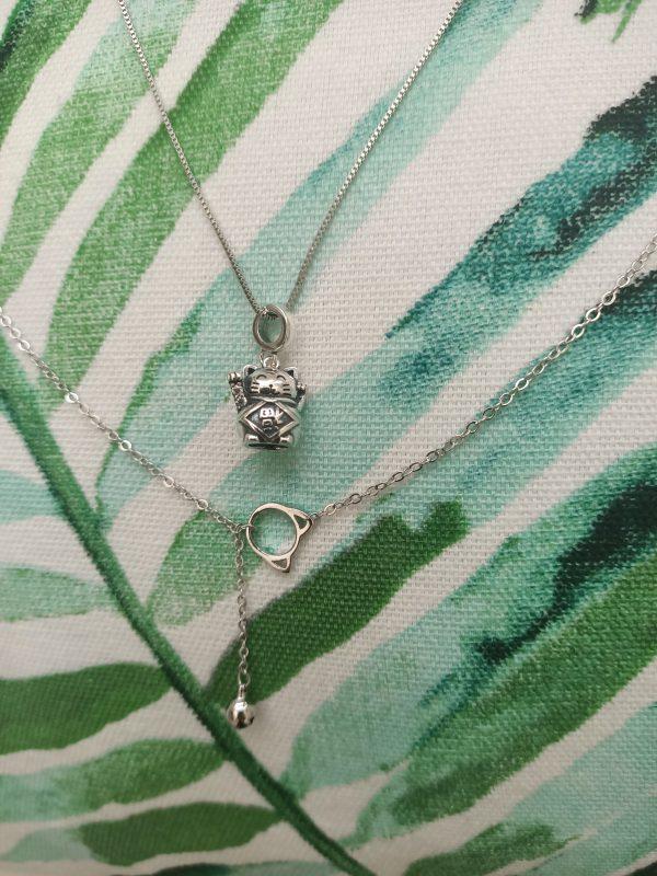 zilveren lucky cat hanger 925 silver sterling zilver gelukskat hanger catmomnl