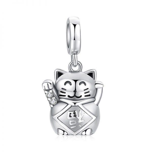 zilveren lucky cat 925 zilver perfecte cadeau kattenliefhebbers hanger pandora hanger ketting hanger sterling silver catmom nl