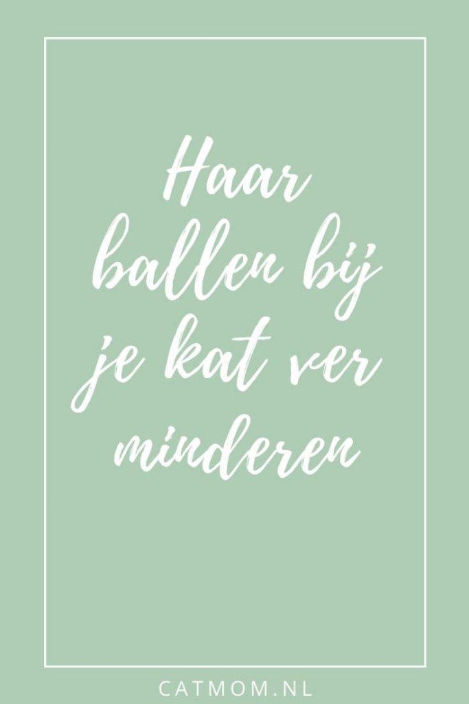 Haarballen bij je kat verminderen catmom.nl
