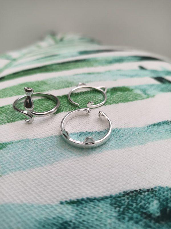 zilveren katten ringen catmomnl