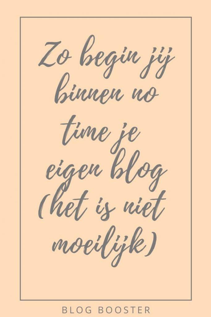 zo begin je met bloggen blog booster