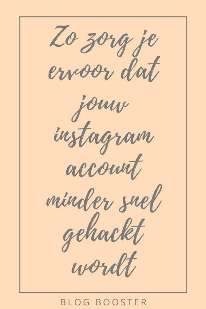 Zo zorg je ervoor dat jouw instagram account minder snel gehackt wordt tweestaps verificatie instagram tweestaps verfiicatie social media social media beveiligen