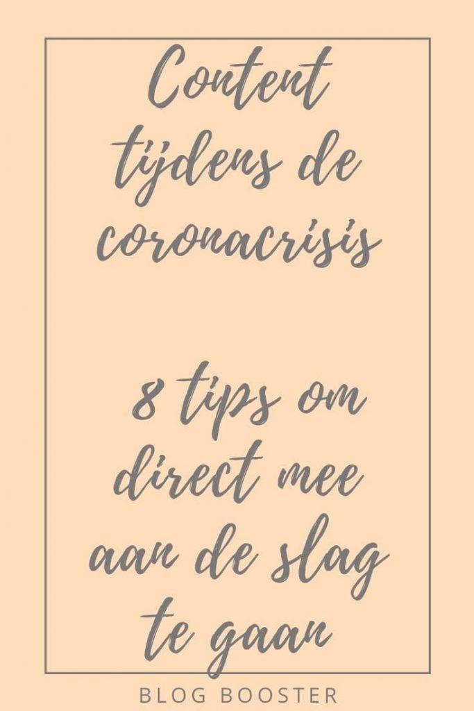 Content tijdens de coronacrisis 8 tips om direct mee aan de slag te gaan blog booster