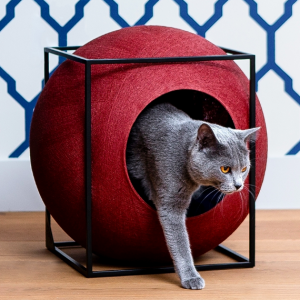 meyou paris the clay (rood) design kattenmand bestellen uniek hip kattenmeubel kopen kattenwebshop catmom.nl