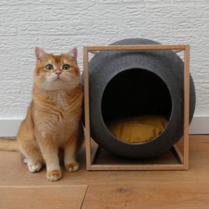 donkergrijze cube the cube meyou paris luxe kattenmand stijlvolle katten mand kopen kattenhuis bestellen catmom.nl kattenwebshop