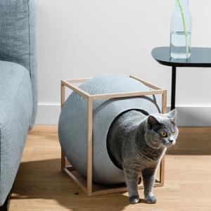licht grijze light grey cube the cube meyou paris luxe kattenmand stijlvolle katten mand kopen kattenhuis bestellen catmom.nl kattenwebshop